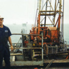 oil rig worker on platform