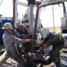 Roughnecks at work
