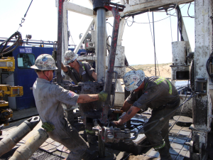 Oil Rig Roughnecks at work