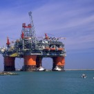 oil rig platform in the sea